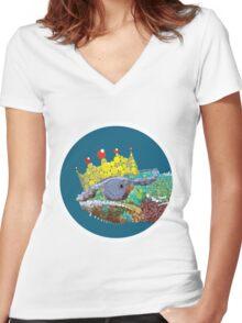 King Chameleon Women's Fitted V-Neck T-Shirt