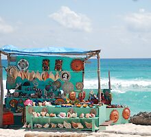Mexican Shop by Caribbean Sea by LenaHunt