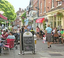 Great Minster Street & The Square in summer, Winchester, southern England by Philip Mitchell
