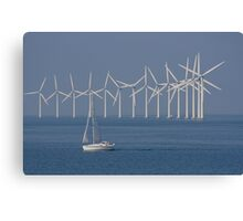 Powered by the wind Canvas Print