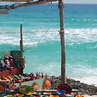 Mexican Pottery Sand by the Caribbean Sea Cozumel  by LenaHunt