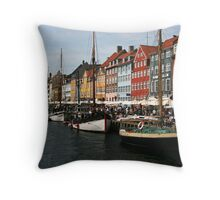 Nyhavn in Copenhagen. Throw Pillow