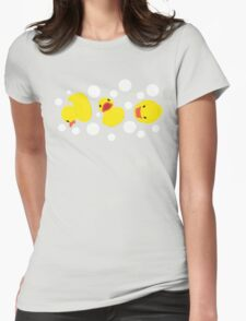 Rubber Duckies Womens Fitted T-Shirt
