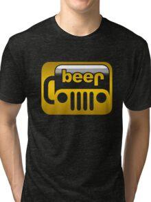 Beer Jeep Tri-blend T-Shirt