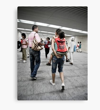 Going to Tiananmen Square Canvas Print