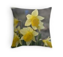 Dainty Daffodils Throw Pillow