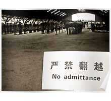 No Admittance Poster