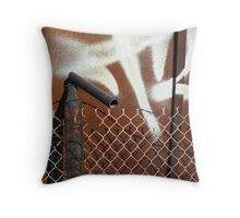 Layered Barriers Throw Pillow