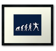 NFL Evolution of Man Funny T Shirt Framed Print