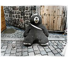 Lonely Berliner bear Poster