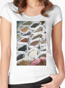 spices at the market Women's Fitted Scoop T-Shirt