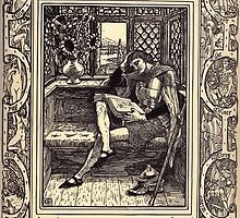 Spenser's Faerie queene A poem in six books with the fragment Mutabilitie Ed by Thomas J Wise, pictured by Walter Crane 1895 V2 265 - But Gwyon all thes While His Booke Did Read by wetdryvac
