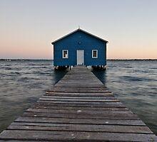 Blue Boat Shed by Daniel Crampton