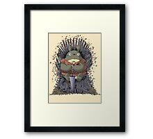 The Umbrella Throne Framed Print