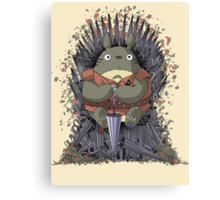 The Umbrella Throne Canvas Print