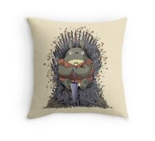The Umbrella Throne Throw Pillow