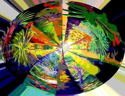 Kaleidoscope, below the rainforest. by Virginia McGowan
