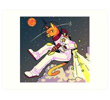 Space Cat Print Art Print