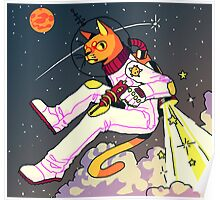 Space Cat Print Poster