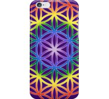 Chakra Flower of Life - Purple background iPhone Case/Skin
