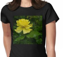 Yellow Rose Pearls Womens Fitted T-Shirt