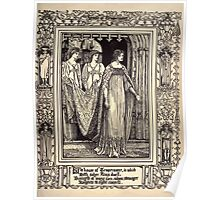 Spenser's Faerie queene A poem in six books with the fragment Mutabilitie Ed by Thomas J Wise, pictured by Walter Crane 1895 V2 207 - The House of Temperence Poster