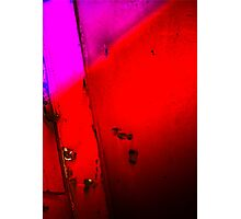 Purple,Red and Black Photographic Print