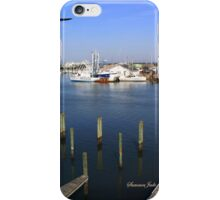 The Boatyard ~ A Gull's View iPhone Case/Skin