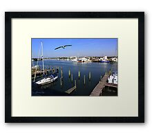 The Boatyard ~ A Gull's View Framed Print