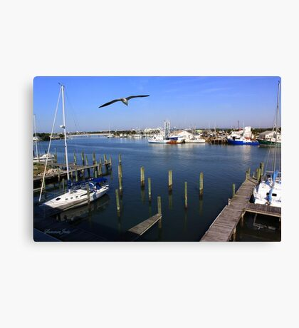 The Boatyard ~ A Gull's View Canvas Print