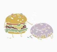 Cheeseburger Pranks Doughnut Kids Tee