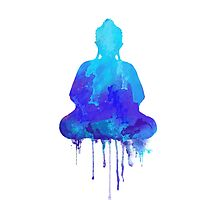 Blue Buddha watercolor illustration  by Thubakabra