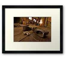 """""""Boots On The Boards"""" Framed Print"""