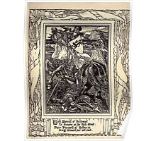 Spenser's Faerie queene A poem in six books with the fragment Mutabilitie Ed by Thomas J Wise, pictured by Walter Crane 1895 V3 105 - Bold Marinell of Britomart Poster