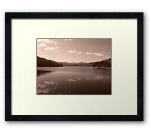 Maroondah Dam - Sepia Framed Print