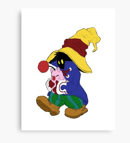 """Cuddles"" with Vivi from FF9 Canvas Print"