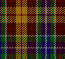 00373 Isle of Arran #3 Tartan  Sticker