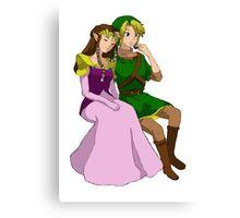A Hero and His Princess Canvas Print