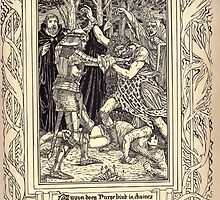 Spenser's Faerie queene A poem in six books with the fragment Mutabilitie Ed by Thomas J Wise, pictured by Walter Crane 1895 V2 89 - Guyon Does Furor Bind in Chaines by wetdryvac