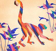 Exotic Monkey Paintbrush Rainbow Collage by Pepe Psyche