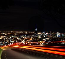 Auckland City at Night by SteveClifton