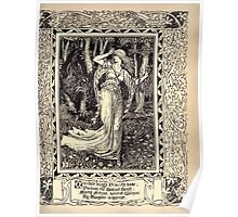 Spenser's Faerie queene A poem in six books with the fragment Mutabilitie Ed by Thomas J Wise, pictured by Walter Crane 1895 V6 65 - Malidore Brings Priscilla Home Poster