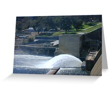Water Gushing from Hume Reservoir Greeting Card