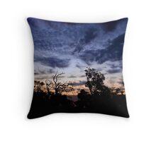 Textural Sunset Throw Pillow