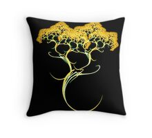 Searching for Gold Throw Pillow
