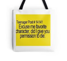 teenage post  Tote Bag