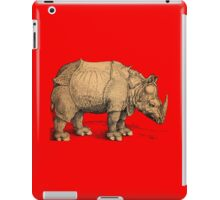 Vintage Rhinoceros Illustration iPad Case/Skin
