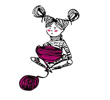 Knitting time  Photographic Print