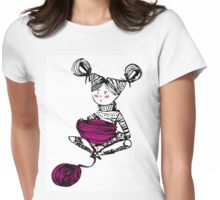 Knitting time  Womens Fitted T-Shirt