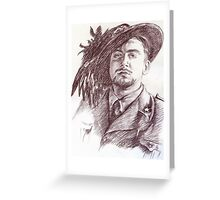 Massimo Rendina portrait Greeting Card